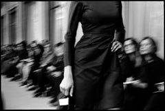 Jerome L Huillier-Noir - Black and White Photograph of Fashion Show