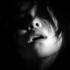 Untitled # 4 - 2007 - Sensual Full Face Black and White Portrait of Young Woman