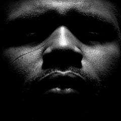 Untitled # 1 2 - 2008 - Expressionist Black and White Portrait of Young Man