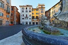 Covid 19-Rome-Fontana del Pantheon and Piazza della Rotonda - 4:25 PM-Photograph