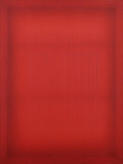 Red Before All Other Reds - Large Red Color Field Painting