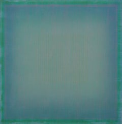 Unafraid of the Night - Large Aqua Blue Color Field Painting