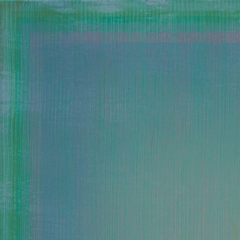 Unafraid of the Night - Large Aqua Blue Color Field Painting For Sale 1