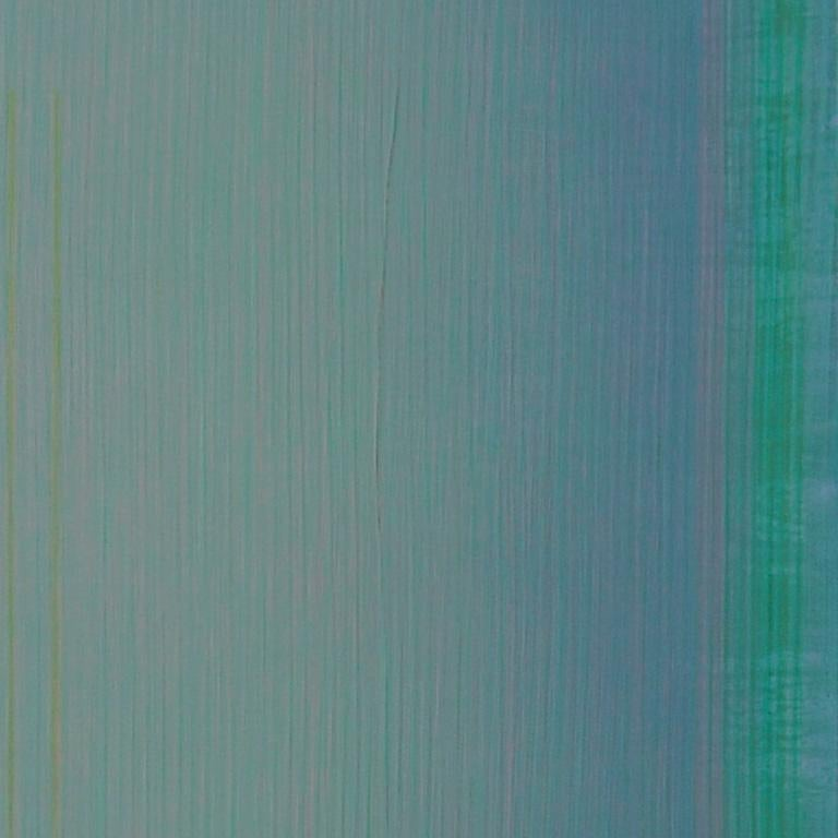Unafraid of the Night - Large Aqua Blue Color Field Painting For Sale 2