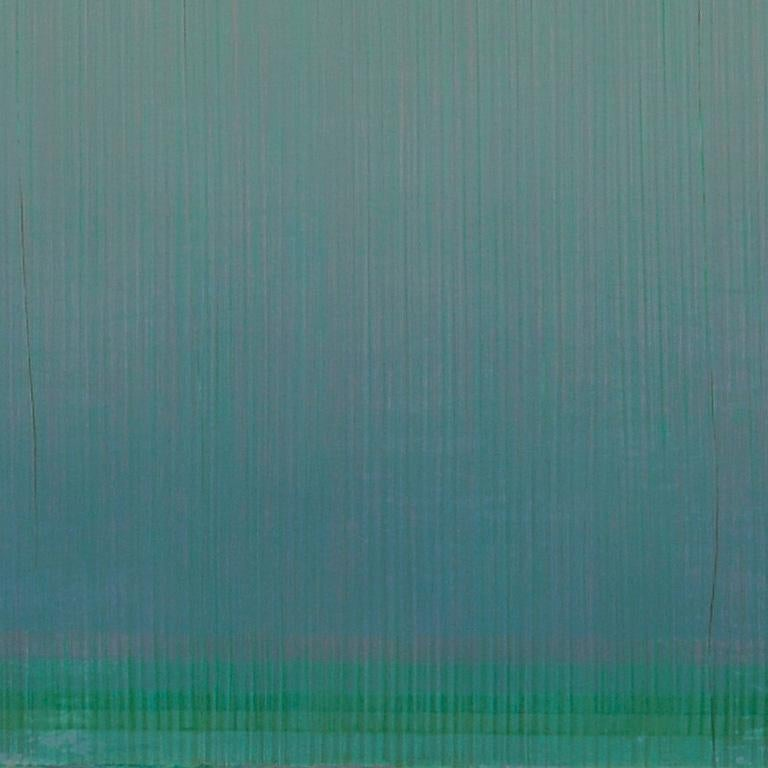 Unafraid of the Night - Large Aqua Blue Color Field Painting For Sale 3