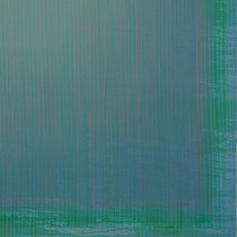 Unafraid of the Night - Large Aqua Blue Color Field Painting For Sale 4