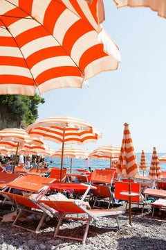 Arienzo Beach - Orange Striped Heart II