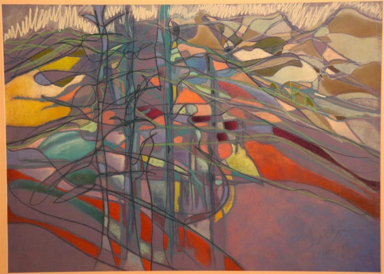 Jacquelyn Thunfors Abstract Drawing - Welsh Landscape