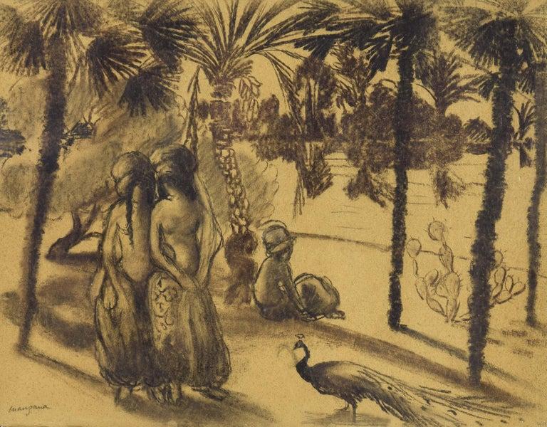 Georges Henri Manzana Pissarro Animal Art - La Promenade