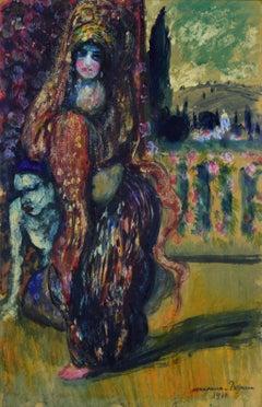 L'Orientale Debout by George Manzana Pissarro, Post-Impressionist, Orientalist