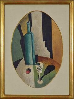 Composition by Nathan Altman - Russian Avante Garde, Cubist art, still life