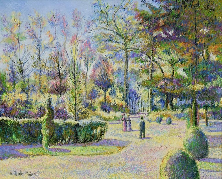 Octobre à Bonneville-la-Louvée by H. Claude Pissarro - Post Impressionist style For Sale 1