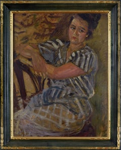 Portrait of a Woman by MELA MUTER - Impressionist, Modern, Portrait, Oil