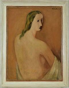Portrait by LÉON ZACK - Russian-born French artist, Portrait, School of Paris