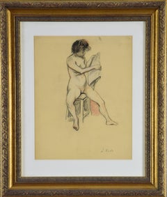 Nude Reading by LUDOVIC-RODO PISSARRO -Figurative work on paper, School of Paris