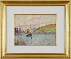 Au Port by LUDOVIC-RODO PISSARRO - Post impressionist watercolour of port scene