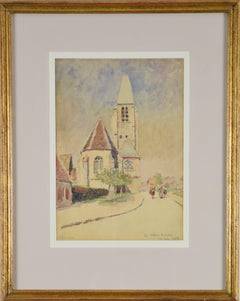 La Celle les Bordes by LUDOVIC-RODO PISSARRO - Post-Impressionist watercolour