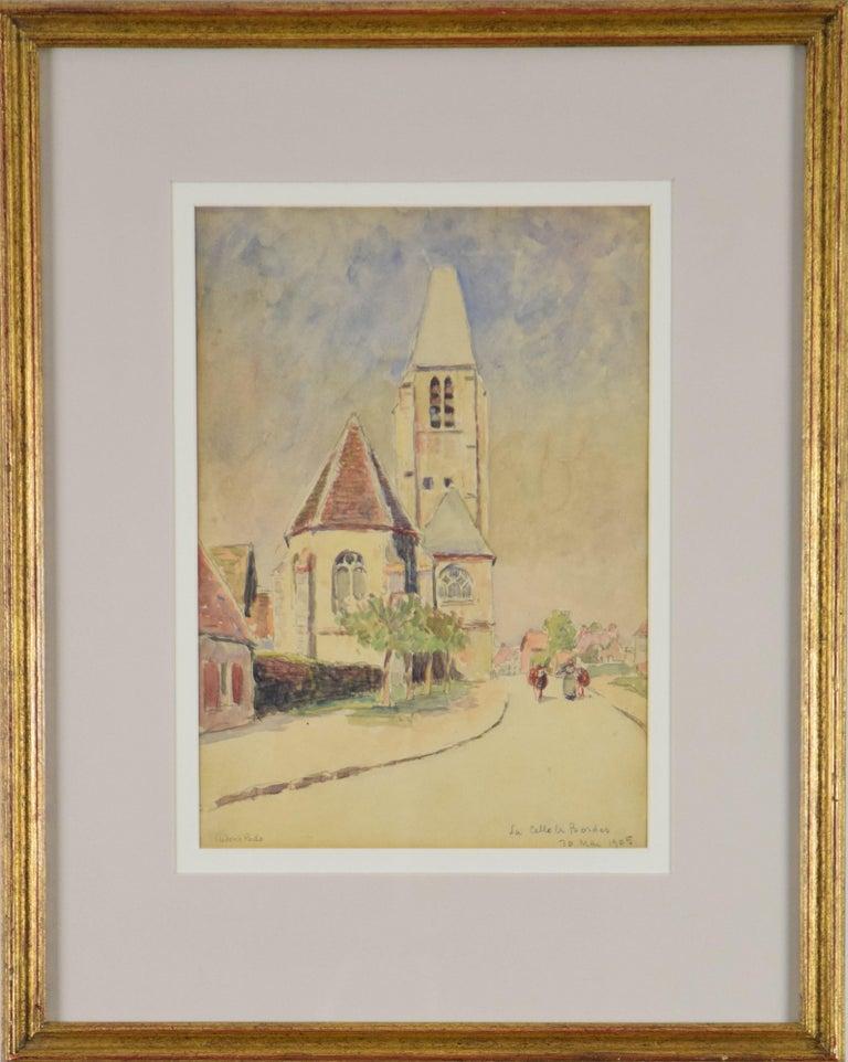 Ludovic-Rodo Pissarro Landscape Art - La Celle les Bordes by LUDOVIC-RODO PISSARRO - Post-Impressionist watercolour
