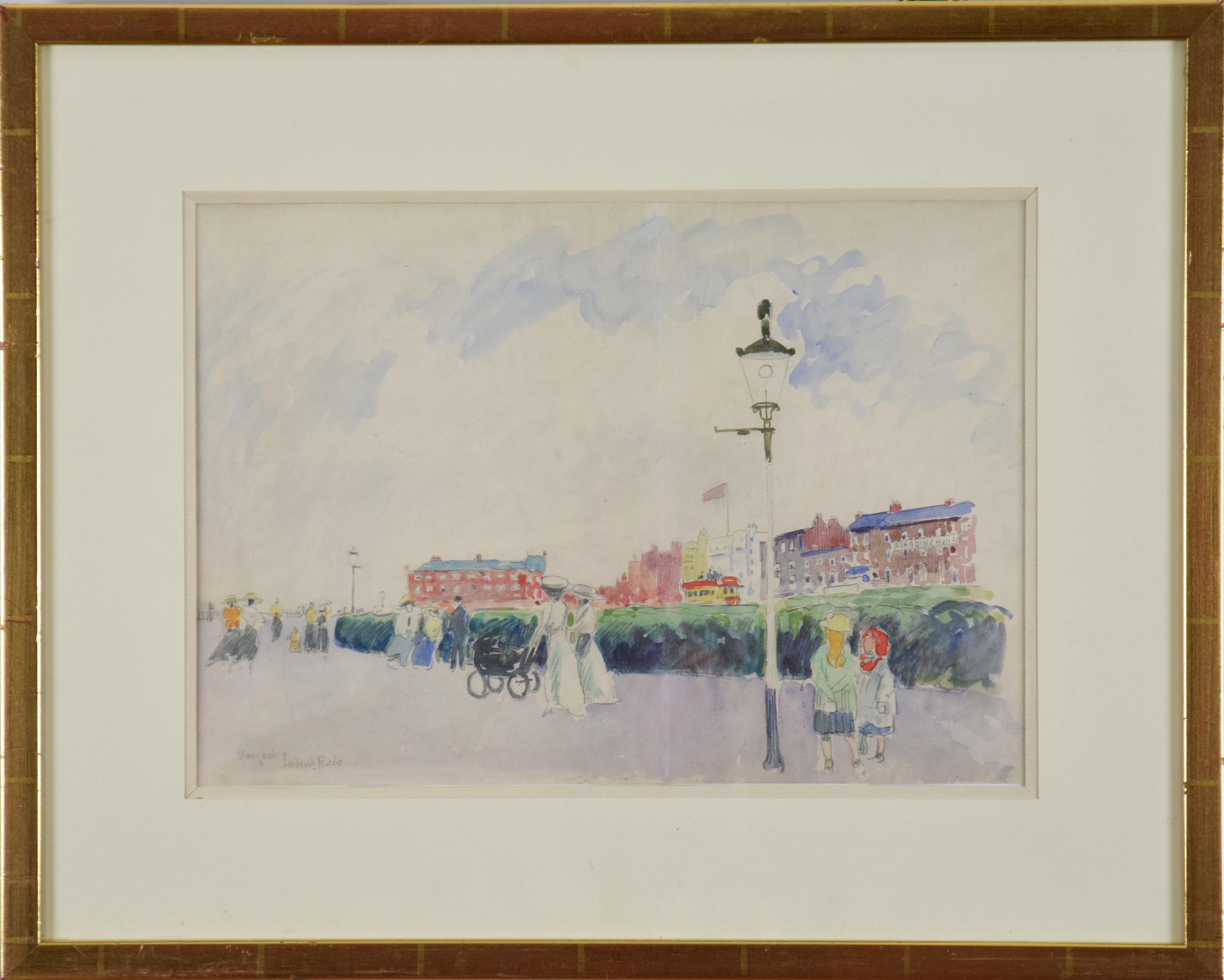 The Promenade, Margate by LUDOVIC-RODO PISSARRO - post-impressionist watercolour