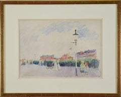 The Promenade, Margate by LUDOVIC-RODO PISSARRO - post-impressionist watercolour