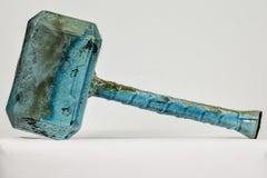 Thor by NAM TRAN - Thor's hammer, rake clay ceramics, turquoise sculpture, art