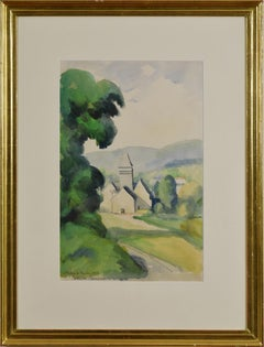 L'Église de Lyons by PAULÉMILE PISSARRO - Watercolour of French Countryside