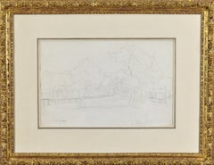 Crystal Palace, London original drawing by Impressionist artist Camille Pissarro