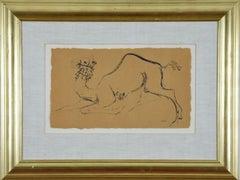 Camel drawing by Reuven Rubin
