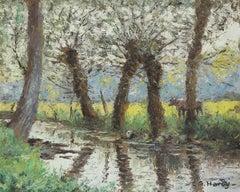 Bord de Rivière by André Hardy - Post-Impressionist oil painting, Landscape