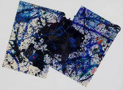 Composition by Sam Francis - Abstract work on paper, 1990