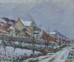 Paysage de neige by Gustave Loiseau - painting from 1911