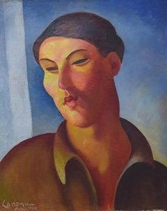 Portrait de Femme by Zygmunt Landau - Modern art, School of Paris