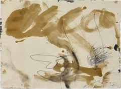 Crayon Vernis by Antoni Tàpies - Abstract Watercolour - Art Informel movement
