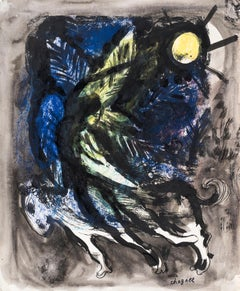 Ange by Marc Chagall - Modernism, School of Paris, original work on paper