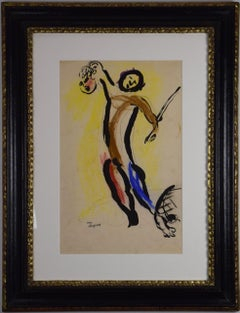 David et Goliath by Marc Chagall - Modernism, School of Paris, original artwork