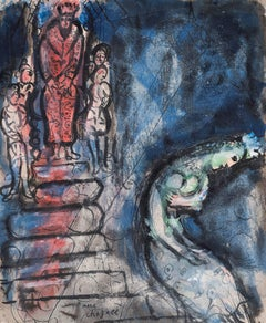 Assuérus Chasse Vashti by Marc Chagall - School of Paris, Modern, original art