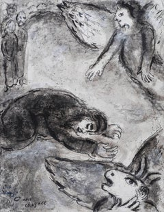 Job dans l'Épreuve by Marc Chagall - Original artwork, Modern, School of Paris
