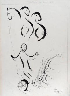 Elie Enlevé au Ciel by Marc Chagall - Original work on paper, School of Paris