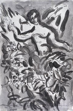 Chérubin by Marc Chagall - Original work on paper, School of Paris, Modern art