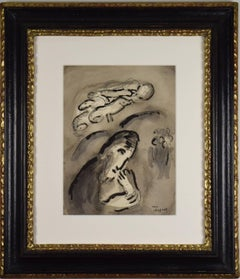 Annonce d'Élie by Marc Chagall - Original work on paper, School of Paris, Modern
