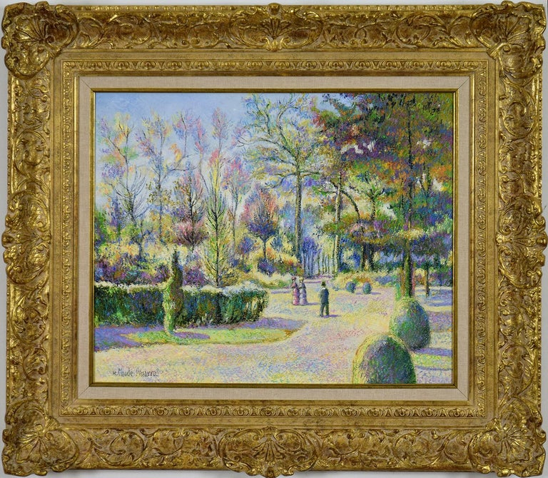 * This price excludes UK VAT.  Octobre à Bonneville-la-Louvée by H. CLAUDE PISSARRO (b. 1935)  Oil on canvas 50 x 61 cm (19 ¾ x 24 inches) Signed lower left, H. Claude Pissarro  This work is accompanied by a certificate of authenticity from the