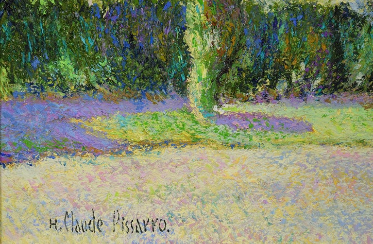 Octobre à Bonneville-la-Louvée by H. Claude Pissarro - Post Impressionist style For Sale 2