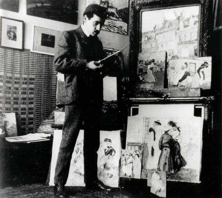 Vue de Moret-sur-Loing, LUDOVIC-RODO PISSARRO - Watercolour, Post-Impressionist For Sale 5