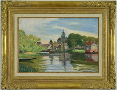 Vue de Moret-sur-Loing, LUDOVIC-RODO PISSARRO - Watercolour, Post-Impressionist
