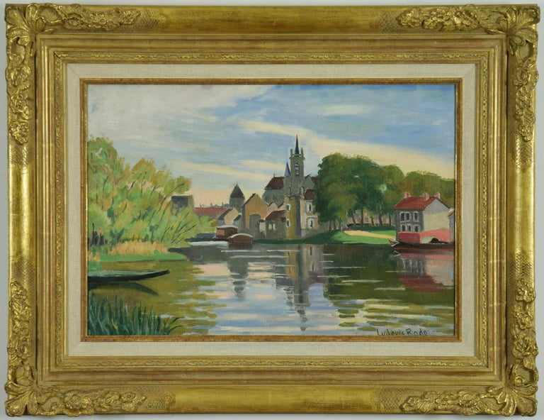 LUDOVIC-RODO PISSARRO (1878-1952)  Moret-sur-Loing  Watercolour, ink and pencil on paper 28.2 x 38.6 cm (11¹/₈ x 15¹/₄ inches) Signed lower right, Ludovic Rodo and dated, Moret 1928  Provenance Private Collection, France  This work is accompanied by