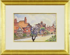 Bedford Park, LUDOVIC-RODO PISSARRO - Watercolour, Town Scene, 20th Century