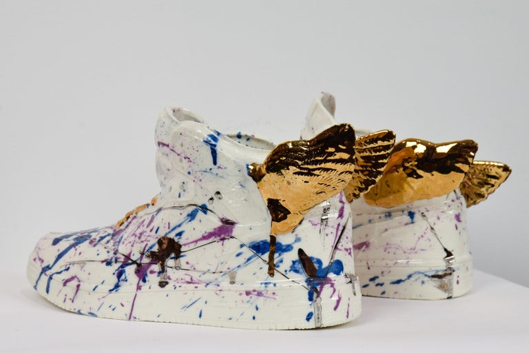 Just Wing It by NAM TRAN - Ceramic, Sculptor, Contemporary, Shoes - Sculpture by Nam Tran