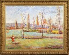 Le jardin-Meslin à la sortie de Flers by H. CLAUDE PISSARRO - Large oil painting