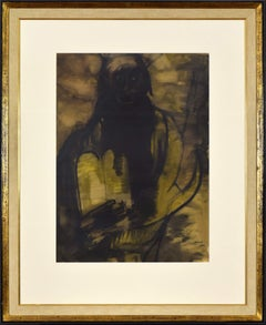Moses on Mount Sinai by LÉON BAKST - Gouache on paper by Russian-Jewish artist