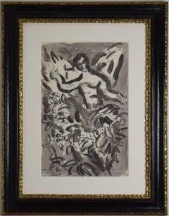 Chérubin by Marc Chagall - Original work on paper, School of Paris, Modern art
